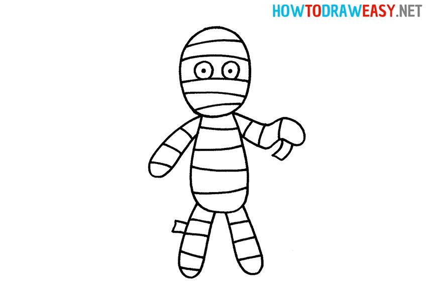 How to Draw a Cartoon Mummy