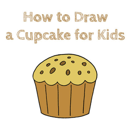 How to Draw a Cupcake Easy