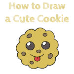 How to Draw a Cute Cookie
