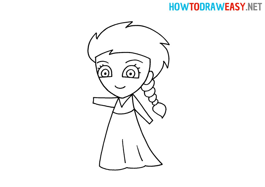 How to Draw a Cute Elsa