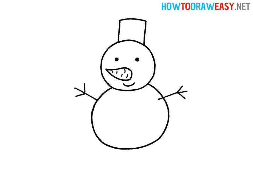 How to Draw a Cute Snowman