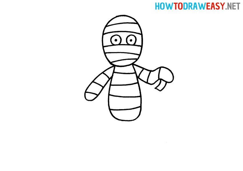 How to Draw a Cute Mummy
