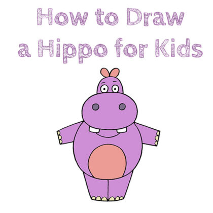 How to Draw a Hippo Easy