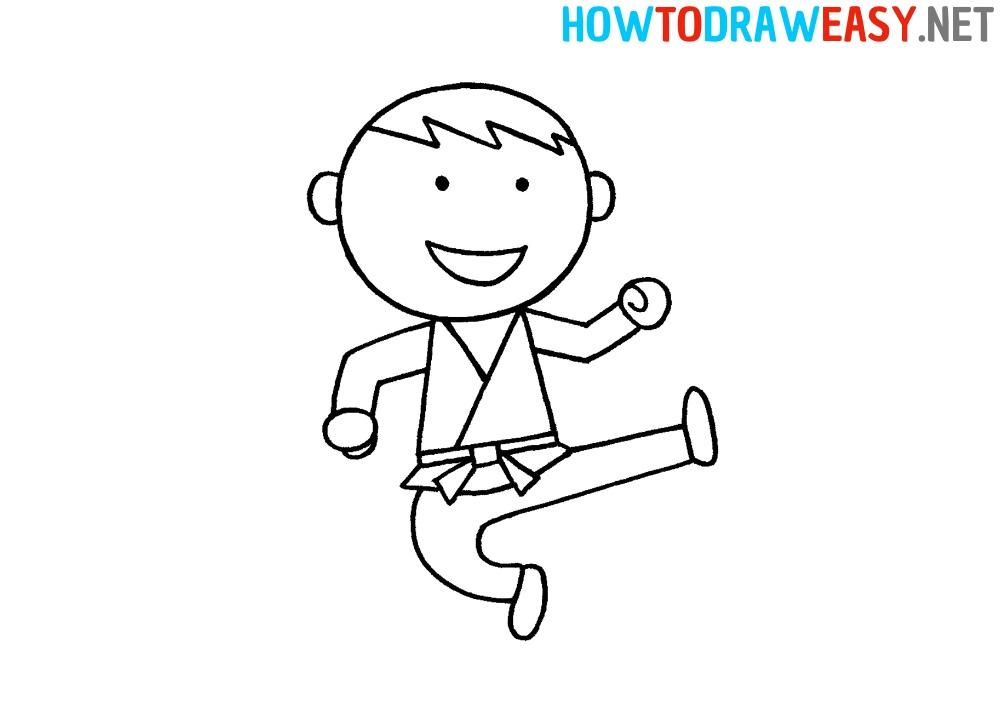 How to Draw a Karate Boy