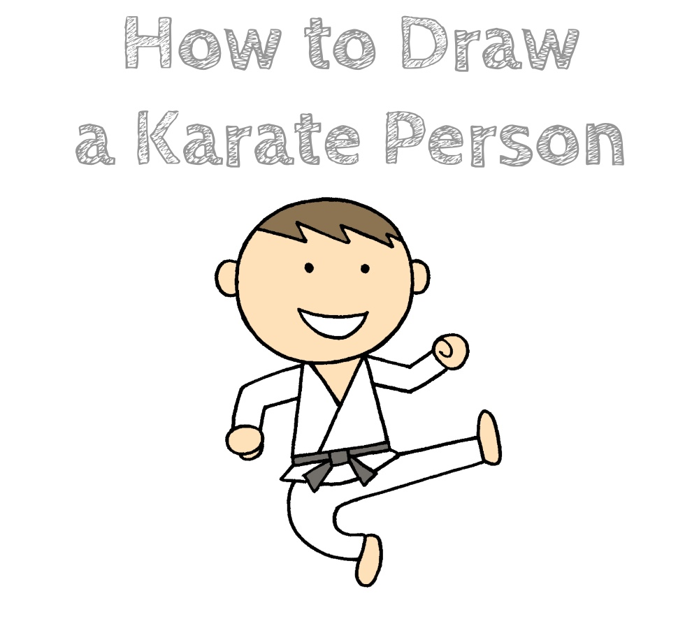 How to Draw a Karate Person Easy