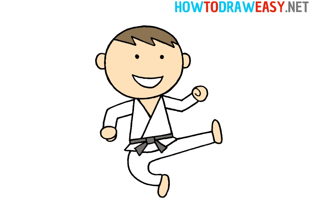 How to Draw a Karate Person