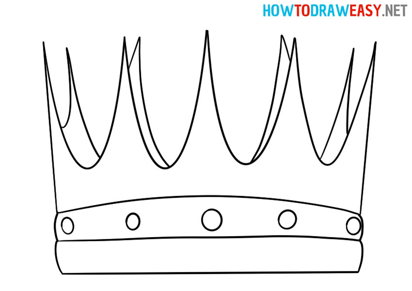 How to Draw a King Crown