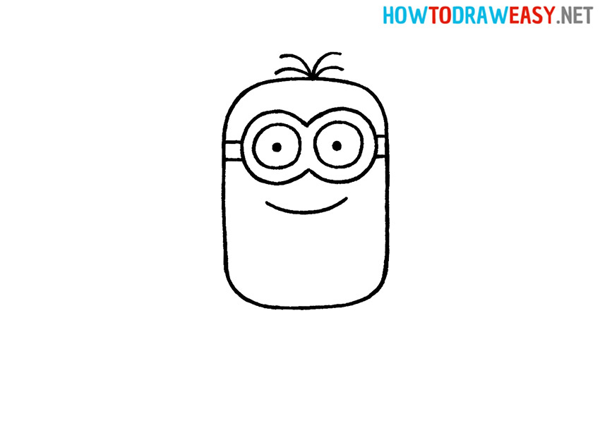 How to Draw a Minion Face