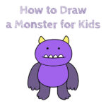 How to Draw a Monster for Kids