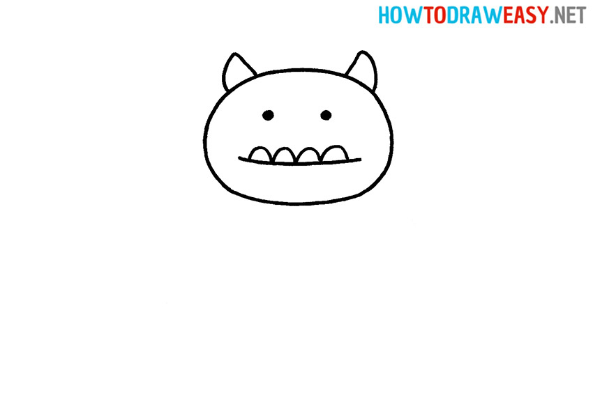 How to Draw a Monster Head