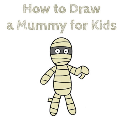 How to Draw a Mummy Easy