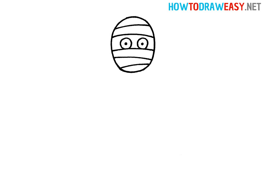 How to Draw a Mummy Face