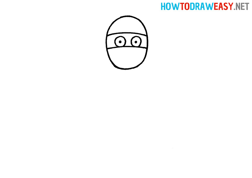 How to Draw a Mummy Head