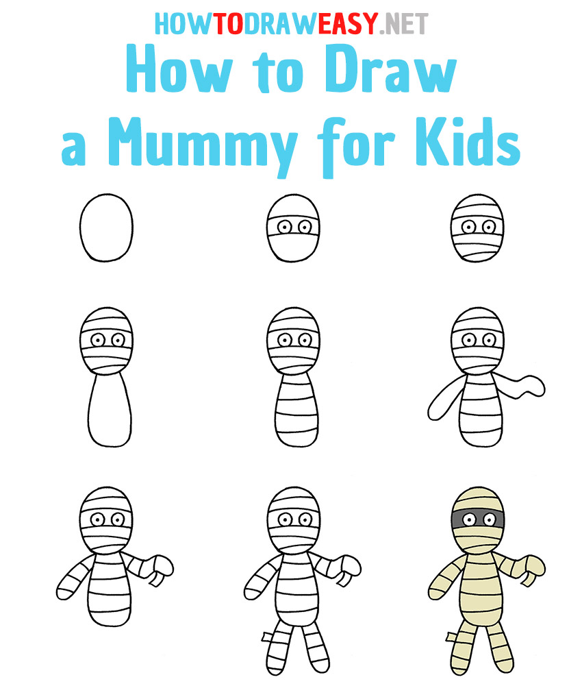 How to Draw a Mummy Step by Step