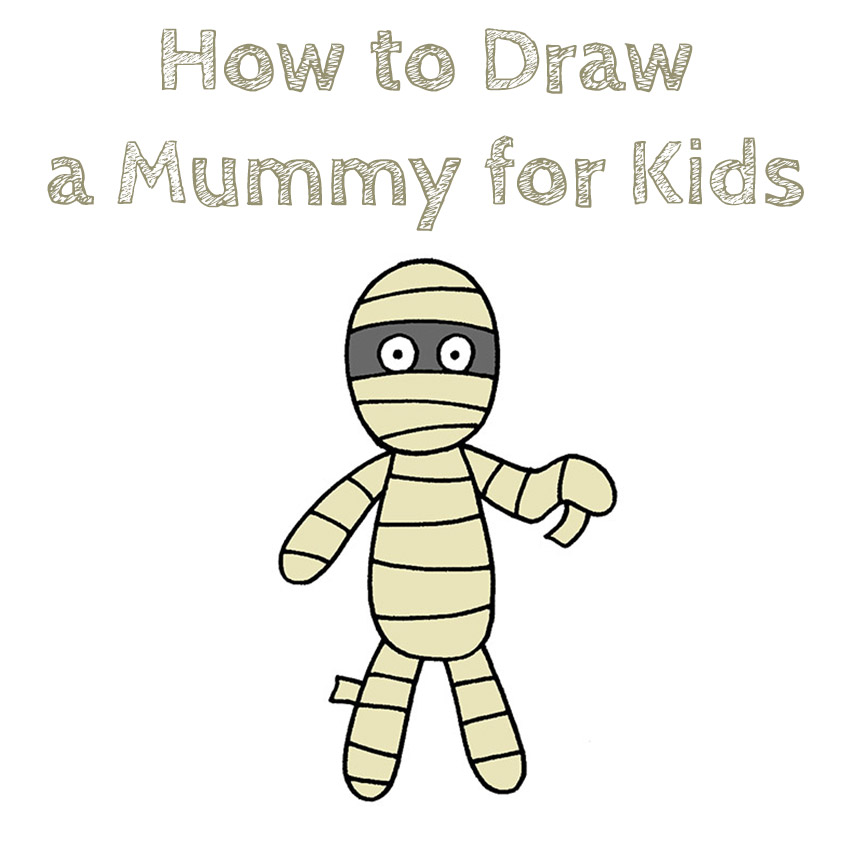 How to Draw a Mummy for Kids