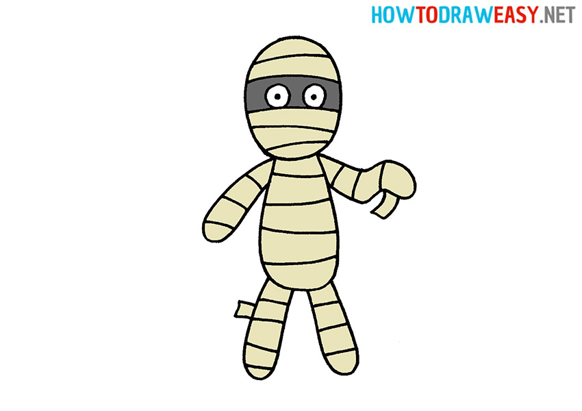 How to Draw a Mummy
