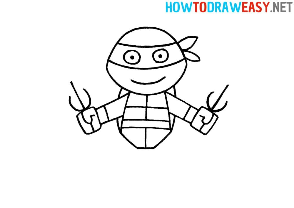 How to Draw a Ninja Turtle Easy