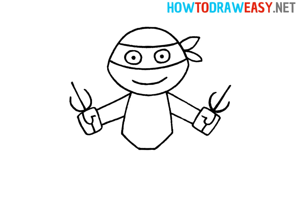 How to Draw a Ninja Turtle for Kids