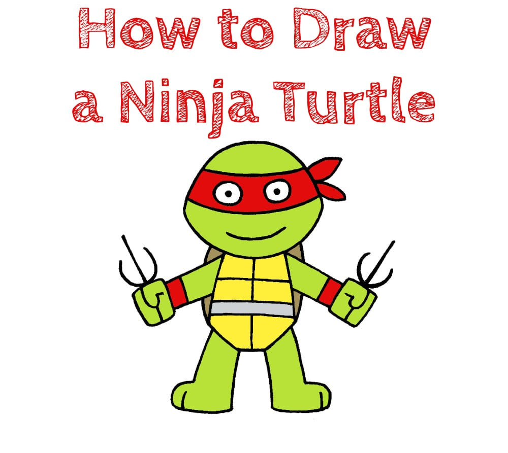 How to Draw a Ninja Turtles for Kids