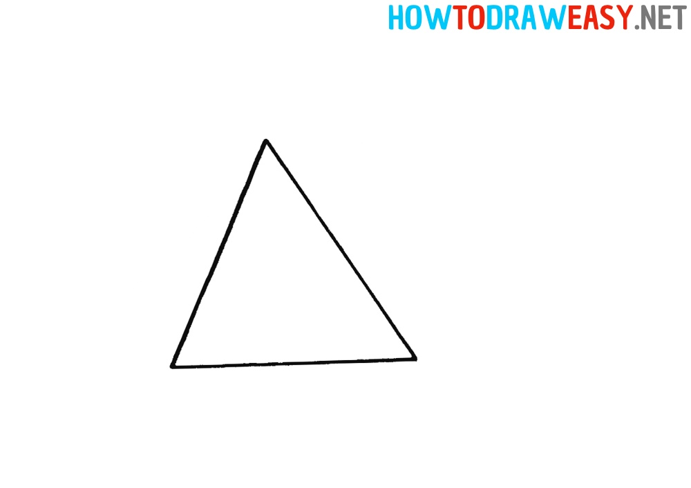 How to Draw a Pyramid Easy