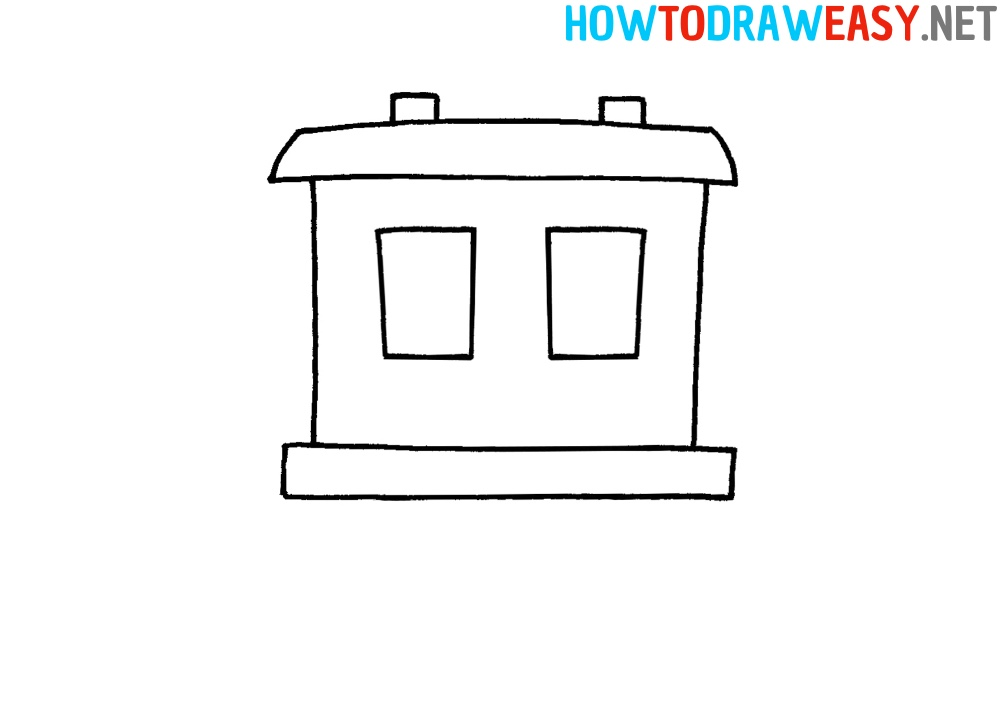How to Draw a Railroad car