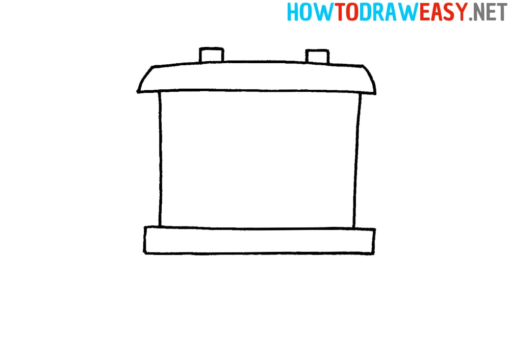 How to Draw a Railroad train