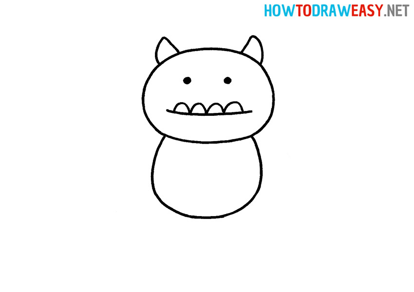 How to Draw a Simpe Monster
