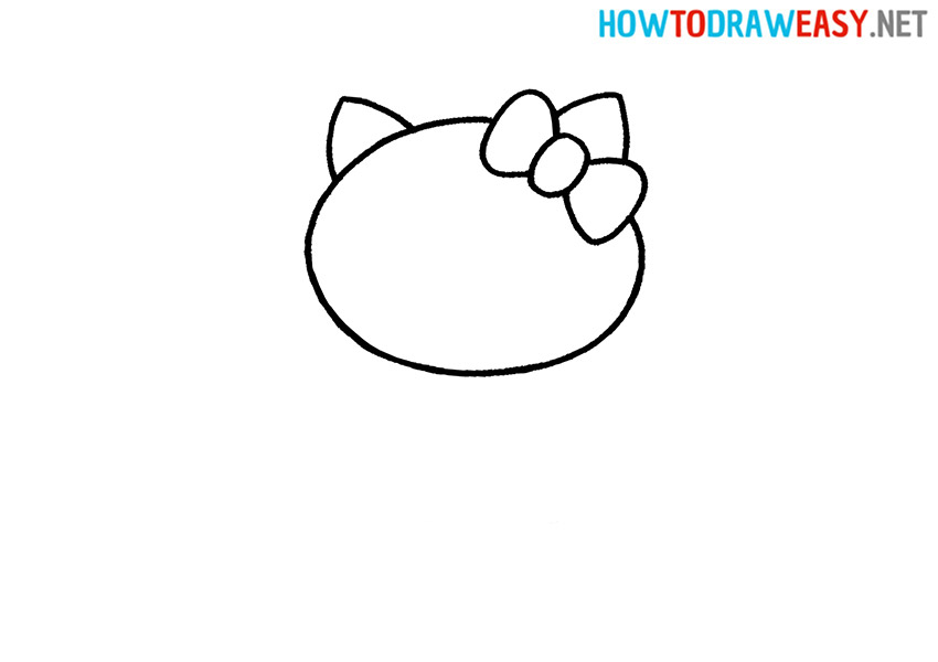 How to Draw a Simple Hello Kitty