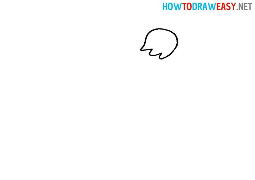 How to Draw a Simple Kiwi Bird