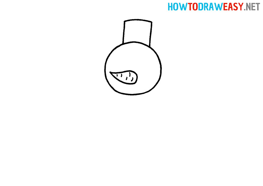 How to Draw a Simple Snowman