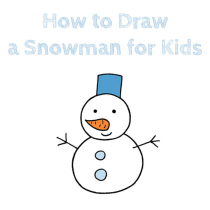 How to Draw a Snowman Easy