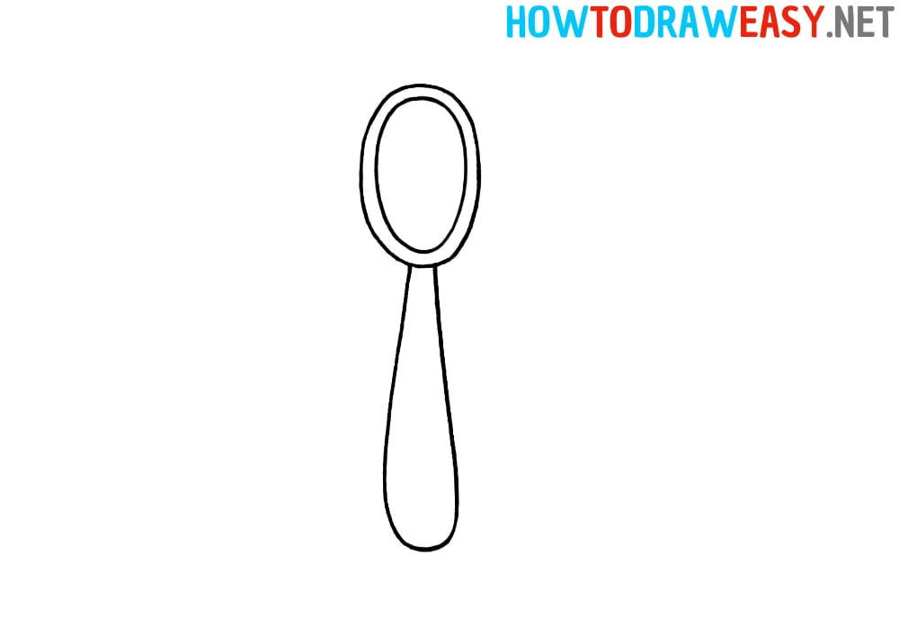 How to Draw a Spoon Easy
