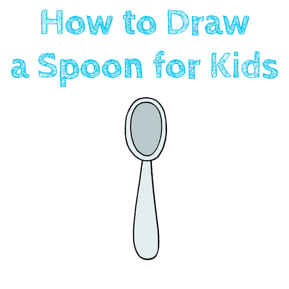 How to Draw a Spoon for Kids