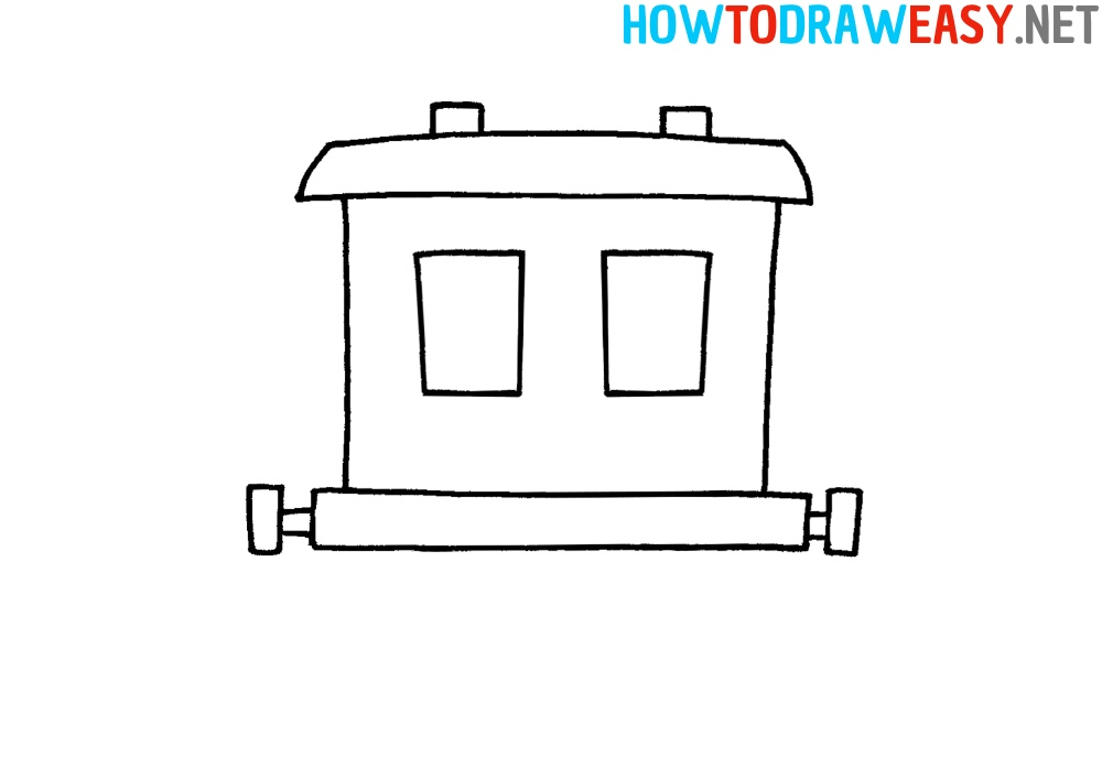 How to Draw a Train Car Easy