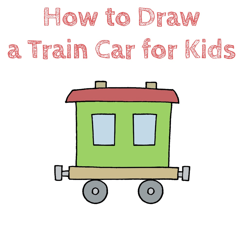 How to Draw a Train Car for Kids