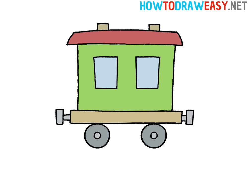 How to Draw a Train Car