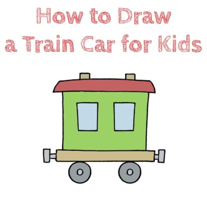 How to Draw a Train Easy for Kids
