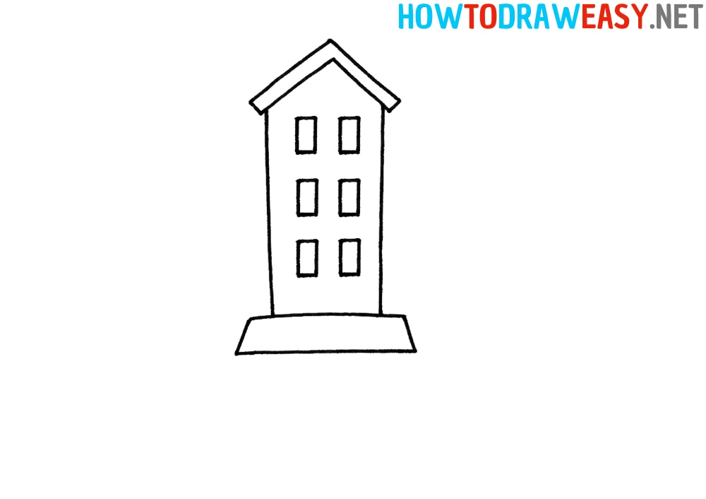 How to Draw an Easy Building for Kids