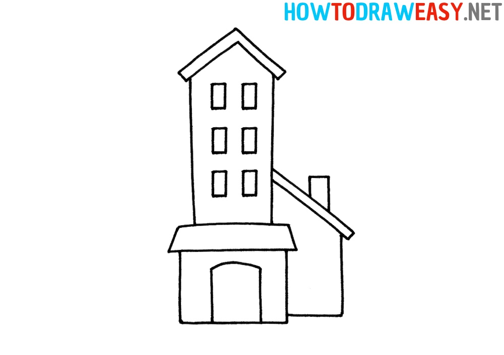 How to Draw an Easy Building