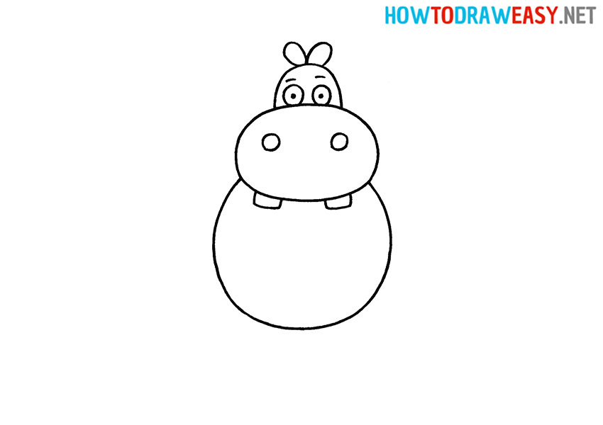 How to Draw an Easy Hippo