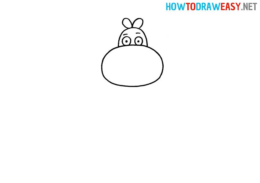 How to Draw an Easy Hippopotamus