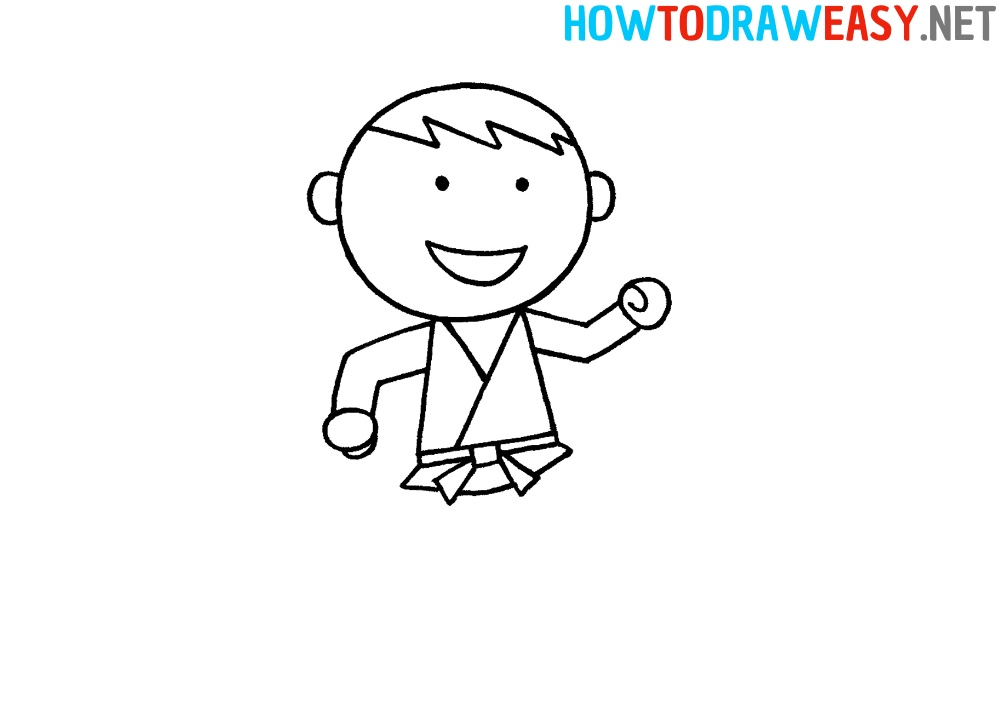 How to Draw an Easy Karate Fighter