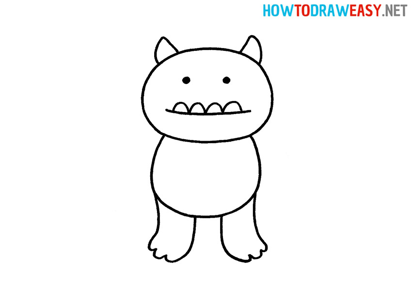 How to Draw an Easy Monster