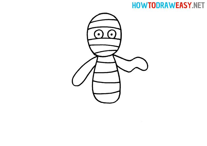 How to Draw an Easy Mummy