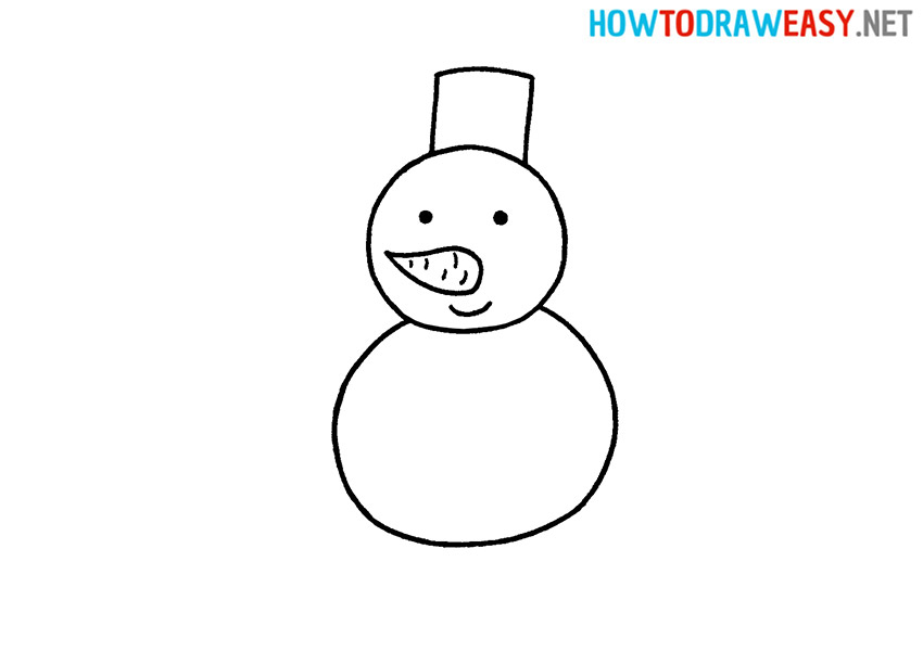 How to Draw an Easy Snowman