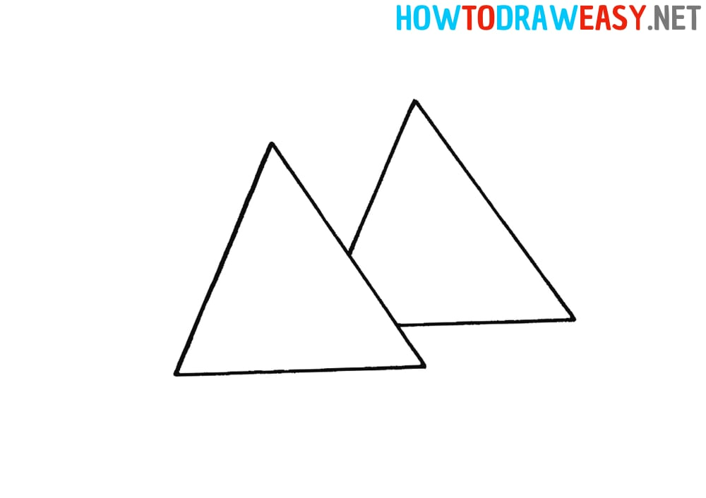 How to Draw the Egyptian Pyramids