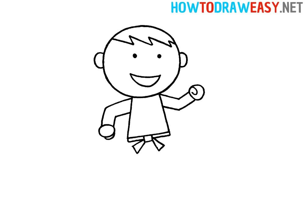 Karate Person Drawing Tutorial