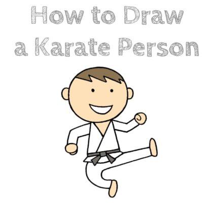 Karate Step by Step Drawing