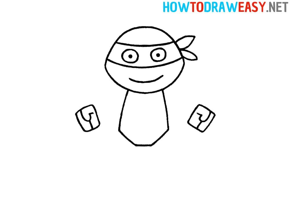 Ninja Turtles Drawing Step by Step