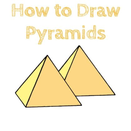 Pyramid Step by Step Drawing